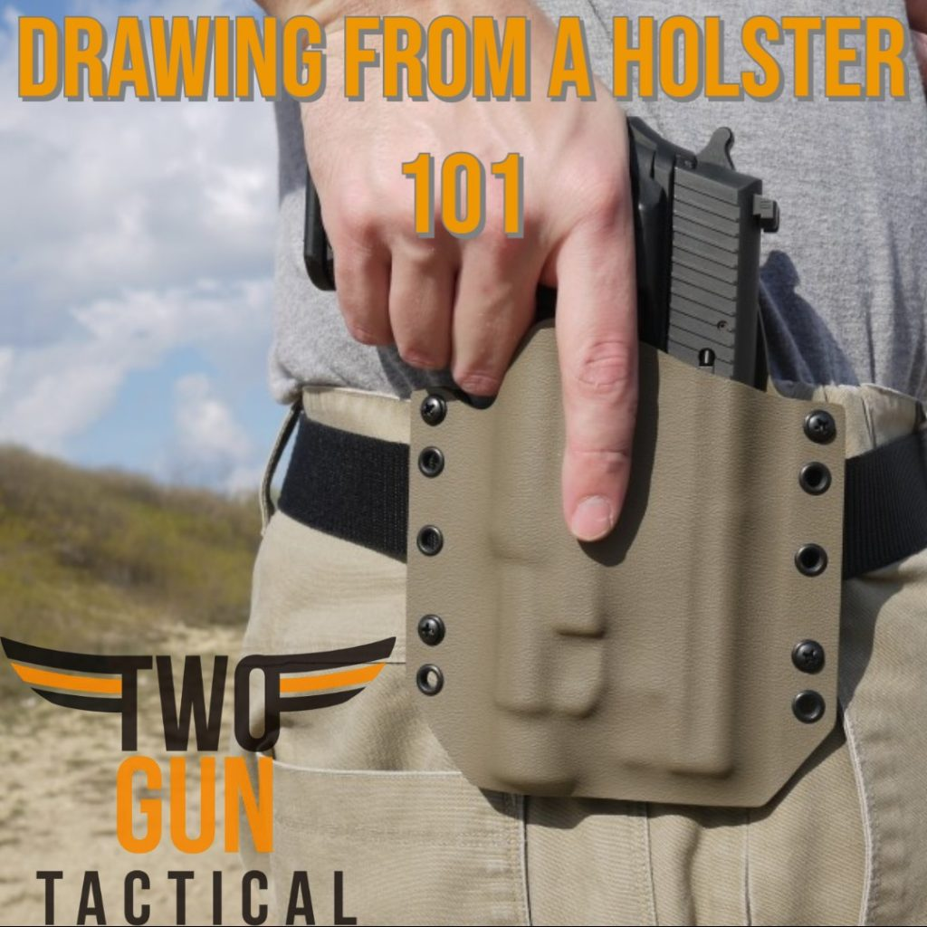 drawing from a holster - two gun tactical